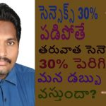 If Sensex (Falls ) 30%, How much it must (grow) to get recover? (Telugu) || Stock Market Loss Telugu