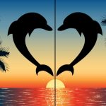 Easy Dolphin Date Night Double Canvas painting step by step  | TheArtSherpa