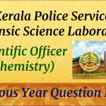 Kerala PSC (Forensic Science Laboratory) Scientific Officer   Previous year question paper solved  