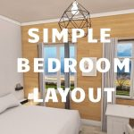 Simple Bedroom Plan Layout with 3D | Architectural drawings | Architect| Architect Real Home planner