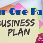 A One Page Business Plan for Real Estate Agents