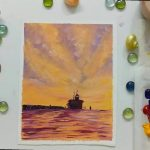 Lighthouse Painting /3 Color Palette Knife Painting/Acrylic Painting /For beginners/ Seascapes/ Art