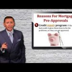 Real Estate Tip - Reasons for Mortgage Pre-Approvals