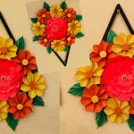 ART AND CRAFT WITH PAPER FOR HOME DECORATION EASY WALL HANGING   DIY PAPER CRAFT IDEAS   NEWSPAPER