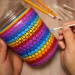 EASY Dot Mandala Bottle Painting Using ONLY Qtip & Pencil
