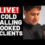 Live Cold Calls!Beginner Uses My Exact COLD CALLING Script Books 5 Appts LIVE! SMMA