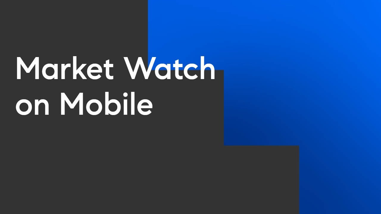 Market Watch on Mobile (Compass Academy Real Estate Training - 2021)