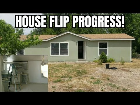 House Flip Update: Painting the Manufactured Home Bought 4/24/2020