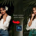 How to Make Professional Model Outdoor Portraits l Photoshop CC tutorial