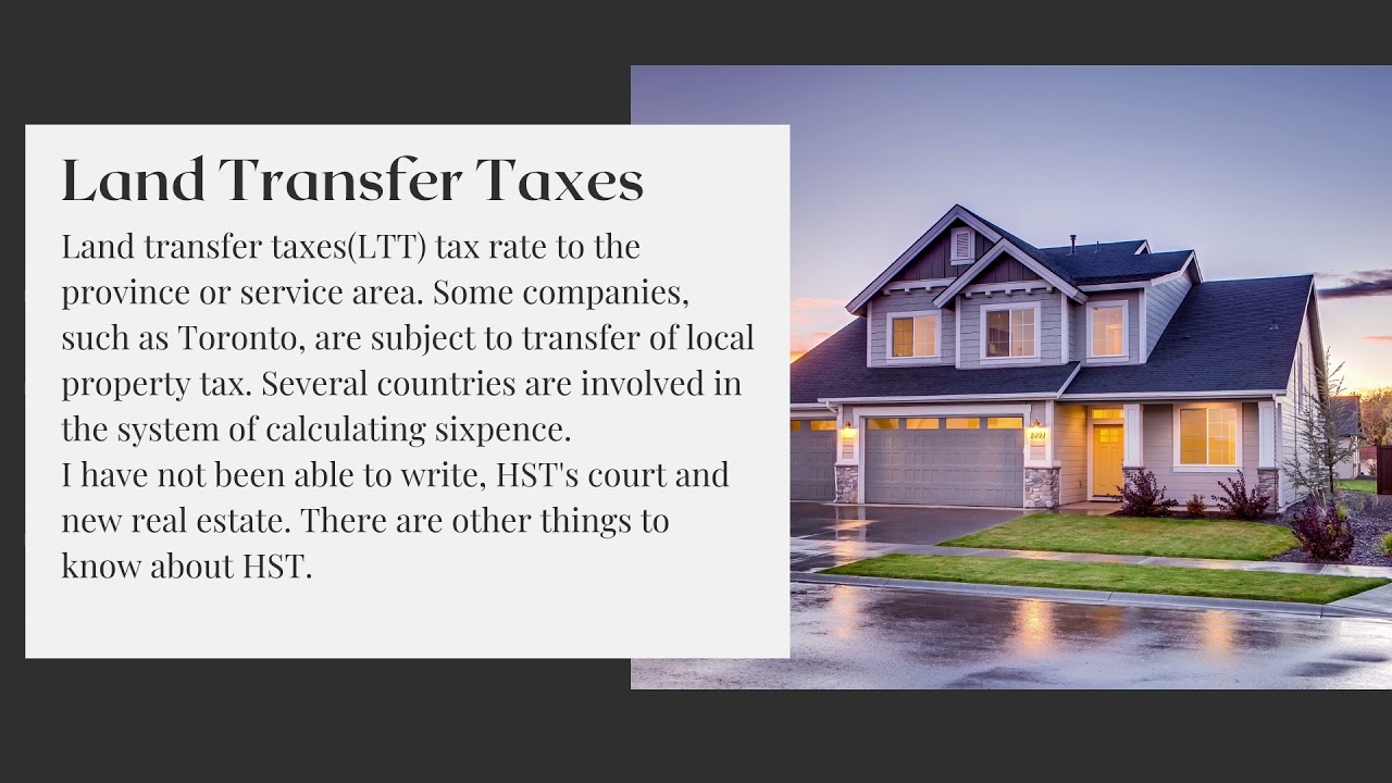 Toronto Real Estate Taxes And Fees When Purchasing