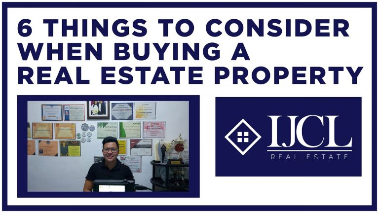 6 Things to Consider when Buying a Real Estate Property ...