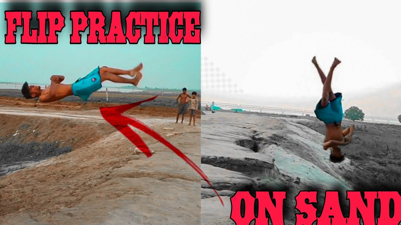 Flip Practice In Sand With Friends 🔥  SAHIL_FLIPPER  🤘