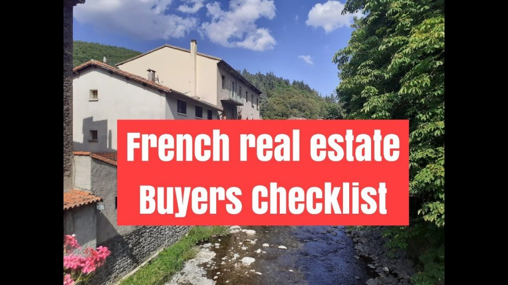 French real estate buyers checklist ADVANCED (examples ...