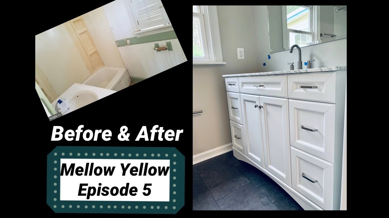 Mellow Yellow House BEFORE & AFTER- episode 5 @AndrewZ Crew #fauquierfixerupper #flippingfamily