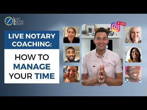 1-on-1 Coaching: Time Management For Notary Public Loan Signing Agents!
